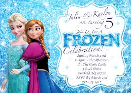 Birthday Invitation Cards For Kids Frozen Birthday Invitation Iidaemilia Com