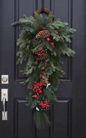 door swag christmas wreaths holiday decor wreaths swags