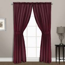 Burgundy Curtain Panels Summit Voile Rod Pocket Curtain Panel Pair Curtain U0026 Bath Outlet