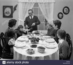 black people thanksgiving 1970s 3 generation family turkey dinner stock photo royalty free