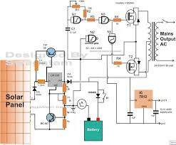 wiring diagram solar panel charger schematic diagram inverter