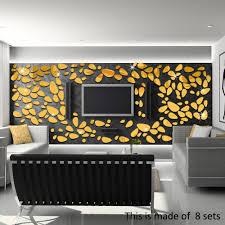 Design Spiegel Schlafzimmer 18 Teile Los 3d Kiesel Tapete Spiegel Acryl Wandaufkleber