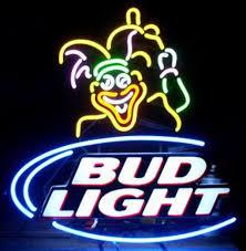 bud light neon signs for sale bud light joker neon sign handmade custom real glass tube comedian