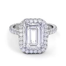 danhov engagement rings danhov carezza emerald cut engagement ring desires by