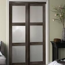 Closet Panel Doors Sliding Closet Doors Bedroom Wayfair