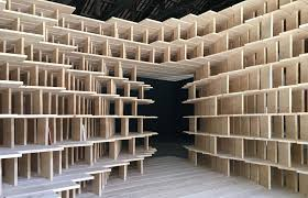 slovenia built a habitable structure with latticed wooden