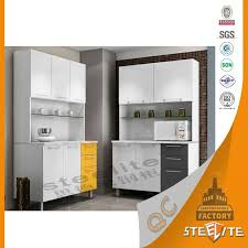 newest design tall cold rolled steel assembled ready made kitchen