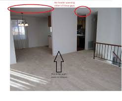 How To Remove Load Bearing Interior Wall Split Entry Truss Roof Is This Wall Load Bearing Remodeling