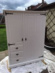 this antique wardrobe from the netherlands is painted in a