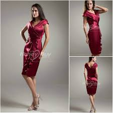 burgundy dress for wedding guest style v neck knee length burgundy wedding guest dress
