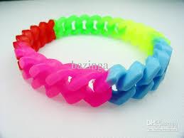 bracelet elastic images 2018 fluorescent candy color bracelets rubber elastic chain glow jpg