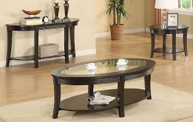 glass end table set modern living room style with oval glass top coffee end table sets