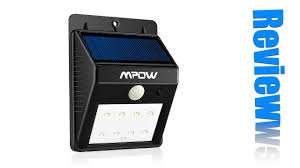 mpow solar light instructions mpow solar 8 led outdoor security light review youtube