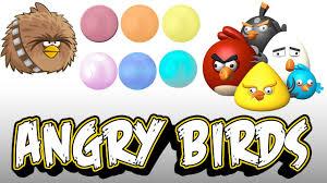 angry bird play colour balls learn colours football