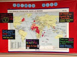 World Map Bulletin Board by