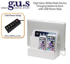 high gloss white multi device charging station and dock walmart com