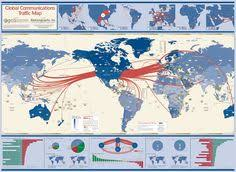 traffic map the global traffic map depicts voice traffic flows on the s