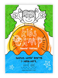 kids camp template kids summer festival banner kids summer party