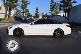 custom bmw m6 bmw m6 wrapped in satin white wrap bullys