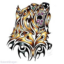 grizzly bear tribal by tribal tattoo pinterest tattoo