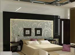bed back wall design latest residential interior designs