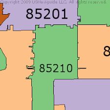 mesa az map northwest mesa arizona zip code boundary map az