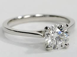 engagement ring bands simple platinum solitaire engagement ring with a thin