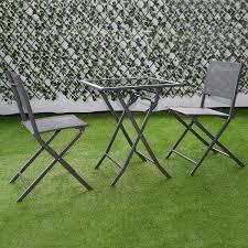 Metal Patio Furniture Set - 3 pcs bistro outdoor folding furniture set outdoor furniture