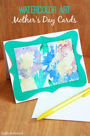 easy watercolor art mother u0027s day card crafts unleashed