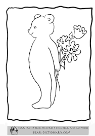 colouring pages teddy bears free alltoys