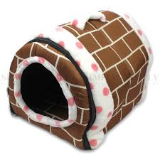 Igloo Dog House Pet Dog House Kennel Soft Igloo Beds Cave Cat Puppy Bed Doggy Warm Cus