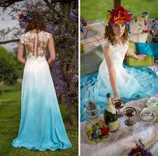 ombré wedding dress blue ombre wedding dress blomwedding
