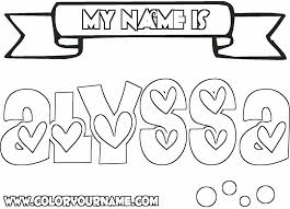 printable coloring pages of your name printable name coloring pages alyssa my name is coloring page twisty