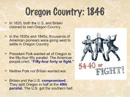 map of oregon country 1846 manifest destiny map