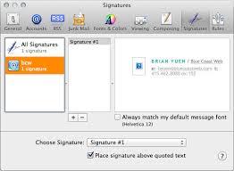 design html email signature dreamweaver creating complex html email signatures in mail app for mac osx lion