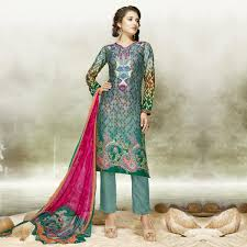 buy teal green party wear palazzo suit for womens online india