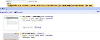 templates for brochures in google docs tutorial making a brochure using google docs from a template