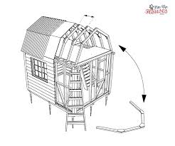 Gambrel Cabin Plans How To Build Archives Small Wooden House Plans Micro Homes