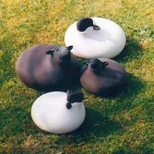 sheep sculpture for contemporary garden ornaments