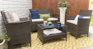 wicker patio 4 piece set with cushions only 199 shipped u2013 hip2save