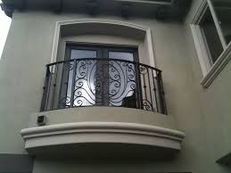 exteriors country style iron black railing balcony fence brown