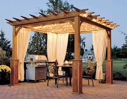 Patio Gazebo Wood Gazebo On Patio With Outdoor Kitchen Outdoor Garden Wooden