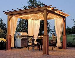 Gazebo For Patio Wood Gazebo On Patio With Outdoor Kitchen Outdoor Garden Wooden