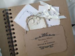 Wedding Wishes Book Style Kraft Wedding Guest Book