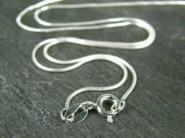 silver chain necklace snake images Sterling silver snake chain 0 75mm necklace with spring clasp 16 quot jpg