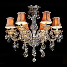 Classic Chandelier Sparkling Cut Rock Drops Beautiful Pattern Bell