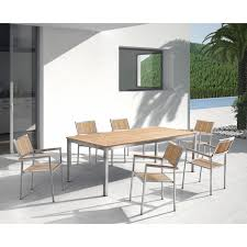 Teak And Stainless Steel Outdoor Furniture by 86 U0027 U0027 126 U0027 U0027 X 40 U0027 U0027 Extendable Stainless Steel Teak Dining Table