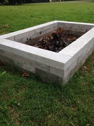 our firepit made it with 4 rows 16 blocks per row the blocks