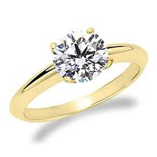 gold 1 carat engagement rings 1 carat cut solitaire engagement ring 18k yellow