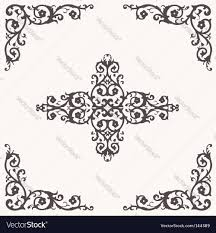 floral border and ornaments royalty free vector image